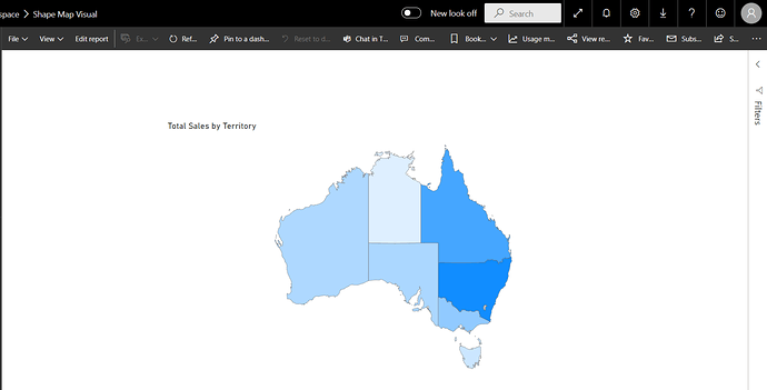 Shape Map In Power BI Service