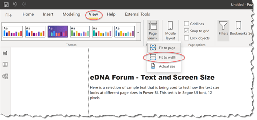 eDNA Forum - Text and Screen Size - 1