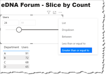 eDNA Forum - Slice by Count - 2