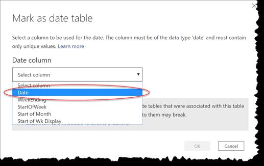eDNA Forum - Mark as Date table - 2