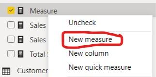 Create New Measure