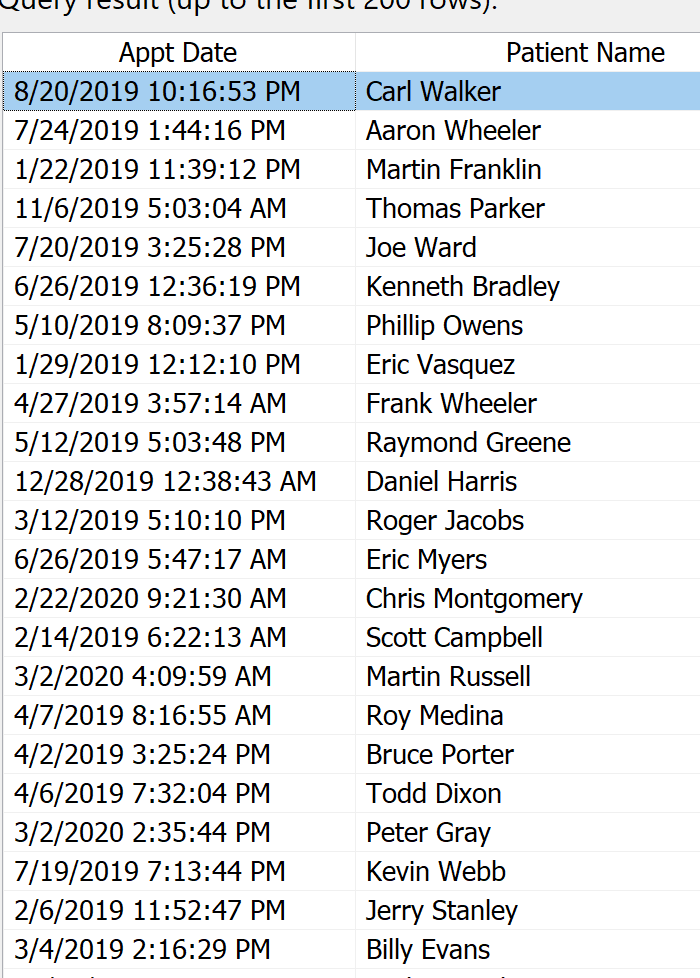 Time Stamps Optical Data