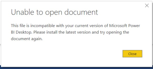 Unable to Open Document