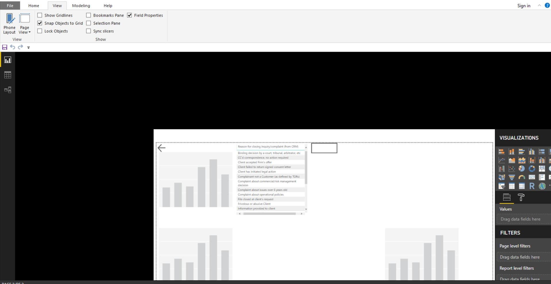 Resolved)Power BI Desktop Report Editor is not centered