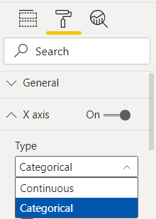 Change from Continuous To Categorical Option