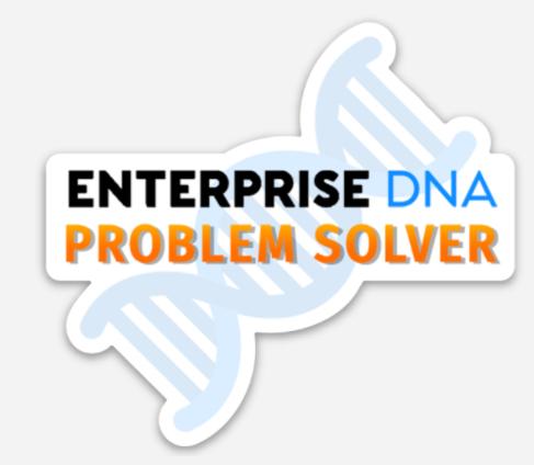 Enterprise DNA Problem of the Week Laptop Sticker Proof