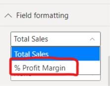 Select % Profit Margin