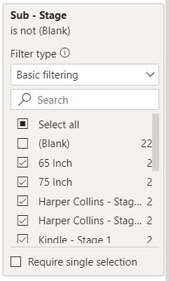 Un-check Blanks from the FILTER PANE